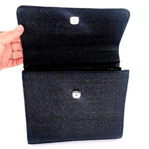 Preston & York Bags - Vintage Preston& York Black Straw Handbag